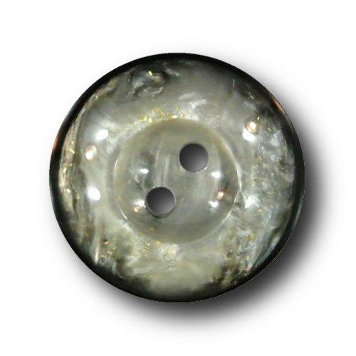 Knopfparadies - 6er Set Mantelknöpfe in Perlmutt-Optik/schwarz-grau/Ø ca. 23mm