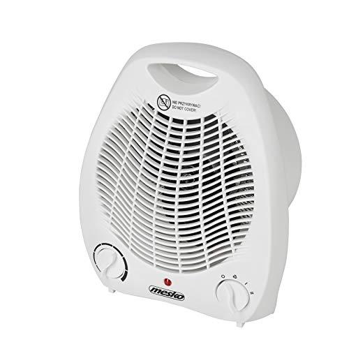 MESKO MS 7719 Heizlüfter mit 2 Leistungsstufen 1000W / 2000W, kalter Luftzug, Dual-Funktion, Thermostat, Überhitzungsschutz, Heizung für Haus, Badezimmer, Camping, Büro