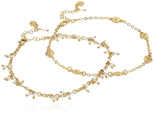 Lucky Brand Jewelry Star Pave Anklet, Gold