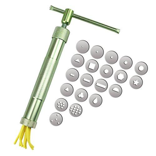 Xiton Máquina de Arcilla extrusora con 20 Discos de extrusión para decoración de Tartas y azúcares
