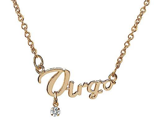 Sterrenbeeld ketting - astrologisch teken - briljant geschenkidee - koper gouden kleur