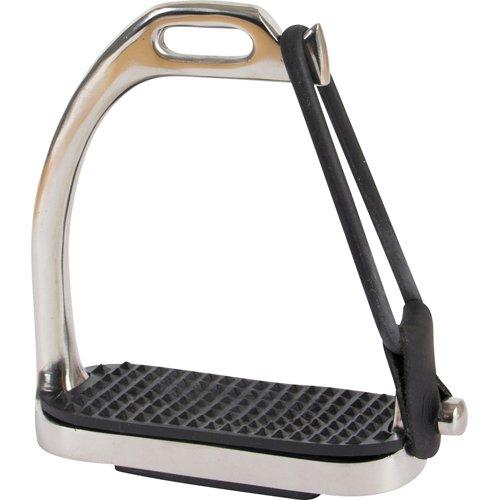 CATAGO Sicherheitssteigbügel mit Sicherheitsgummiband, Edelstahl - TESTSIEGER - verschiedene Größen, Sicherheit beim Reiten, seitlich angebrachter Gummiring, Anfänger, Fortgeschrittene, Preis-Leistungs-Testsieger, top Steigbügel