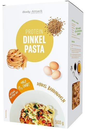 Body Attack Protein Dinkel Pasta - 15g Eiweiß- 500g (Dinkel Bandnudeln)