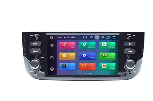 iuspirit ANDROID 10 GPS USB SD WI-FI Bluetooth MirroLink autoradio navigatore compatibile con Fiat Punto Evo Fiat Street 2010, 2011, 2012, 2013, 2014, 2015
