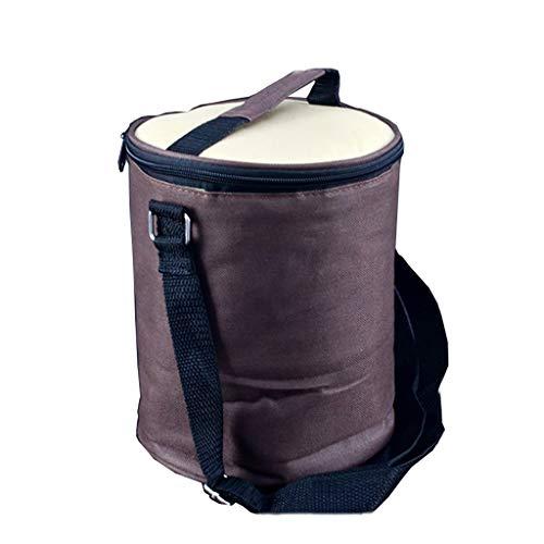 Sac isotherme sac imperméable à l'eau Boîte à lunch portable Sac à lunch Sac à main Sac en aluminium Aluminium Sac à lunch portable Rond 3 couleurs 17cm de diamètre 21cm de haut (Couleur : C)