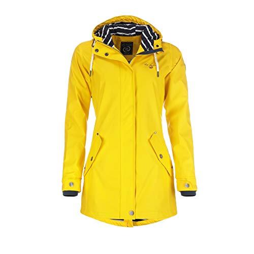 Dry Fashion Damen-Regenmantel Kiel Farbe gelb, Größe 42
