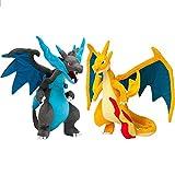 Pokemon Peluches Mega Charizard X Mega Evolución Lindo Muñeco De Peluche De Peluche Suave 23Cm Regalos para Niños Paquete De 2