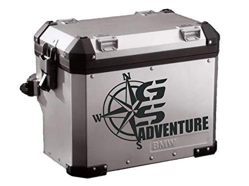 Pegatina Adhesivo Maleta Compatible con GS Aventure Rosa DE LOS Vientos R 1200 1150 1100 800 Dakar Troquelado 16 Colores Disponibles Kit 2 Unidades