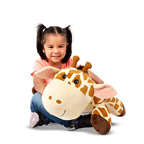 Melissa & Doug Cuddle Giraffe Jumbo Plush Stuffed Animal with Activity Card