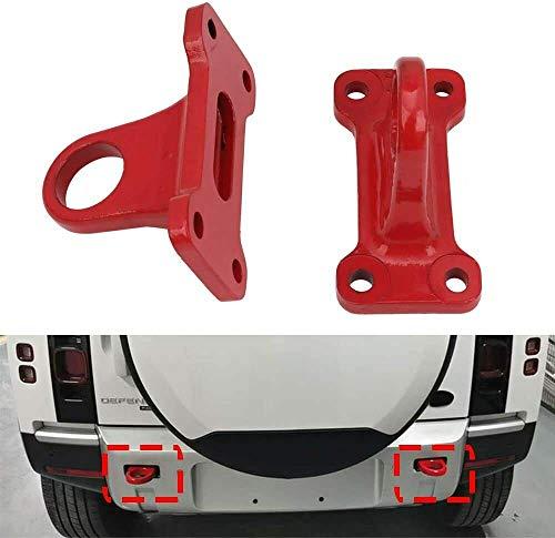 UDP-Auto 2 ganchos de remolque de remolque de color rojo para Land Rover Defender 2020 2021 4D 110