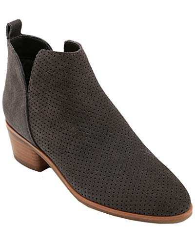 Dolce Vita Women's Kaidie Bootie (6.5 B US, Charcoal Grey Perforated Suede)