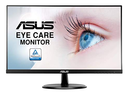 "ASUS VP249HE, Monitor Eye Care (Full HD, IPS, Sin Marco, Antiparpadeo, Filtro de Luz Azul), HDMI, 23.8"", Negro"