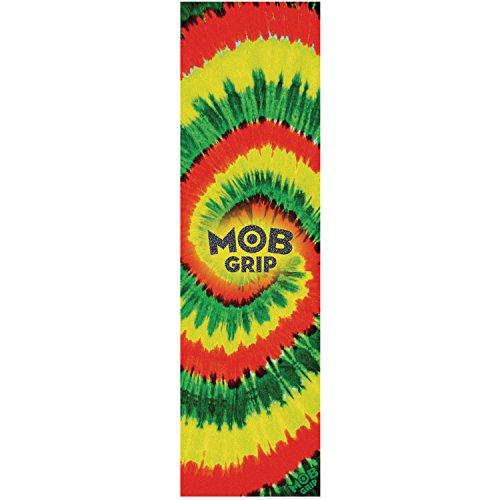 MOB Griptape Trippy Tie Dye Rasta Skateboard Griptape 9x 33Blatt