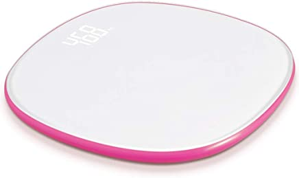 Home Smart Digital Bathroom Weight Electronic Scale WiFi Data Transmission Disc Electronic Scale 330 Pounds (Color : Red)