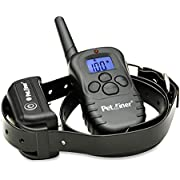 Petrainer PET998DB1 Dog Shock Collar Waterproof and Rechargeable 330 Yards Dog Training Collar with Vibration and Shock Electric Basic Dog Collar