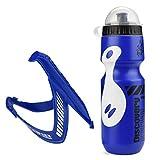 gousheng Botella De Agua Deportiva Botella De Agua Deportiva para Hombre Set 650Ml Botella De Agua para Exterior Y Jaula De Soporte