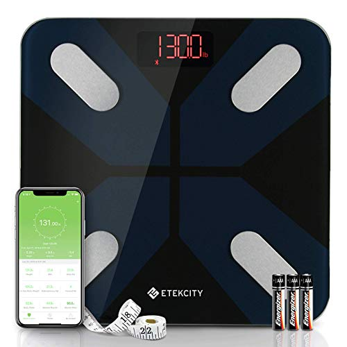 Save %23 Now! Etekcity Weight, Smart Body Fat Bluetooth Bathroom Digital Scale Tracks 13 Key Composi...