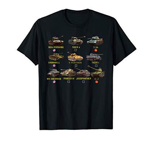Beste WW2 Panzer M4 Sherman Panzer IV Tiger II T-34 T-Shirt