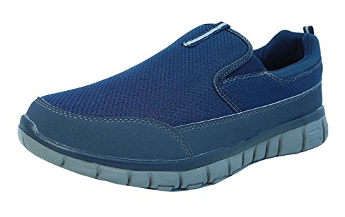 Herren Superlight Turnschuhe mit Memory Foam, für Wandern, Sport, mit Skechers-Socken, Schwarz - blau - Größe: 39 EU