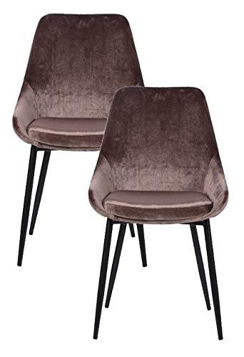 Kare stoel East Side zand (2/set), bruin, één maat