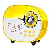 LEMEGA CR1+ Kids Light Alarm Clock Wake Up Light, Colorful Night Lamp for Kids,Led Alarm Clock with Bluetooth and FM Radio, for Children's Day, Boys,Girls, Baby, Kids Room– Yellow