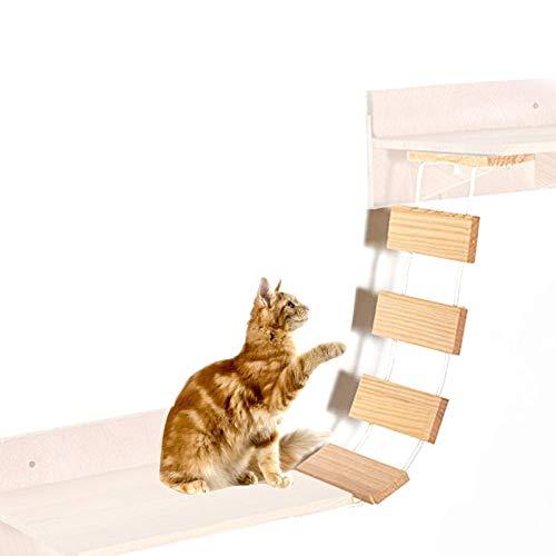 Hamaca para mascotas, montaje en pared, escalera de madera h