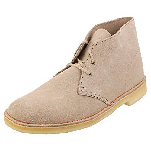 Clarks Desert Boots - Polacchine Uomo, Pelle, Beige (Sand Suede-), 42 EU