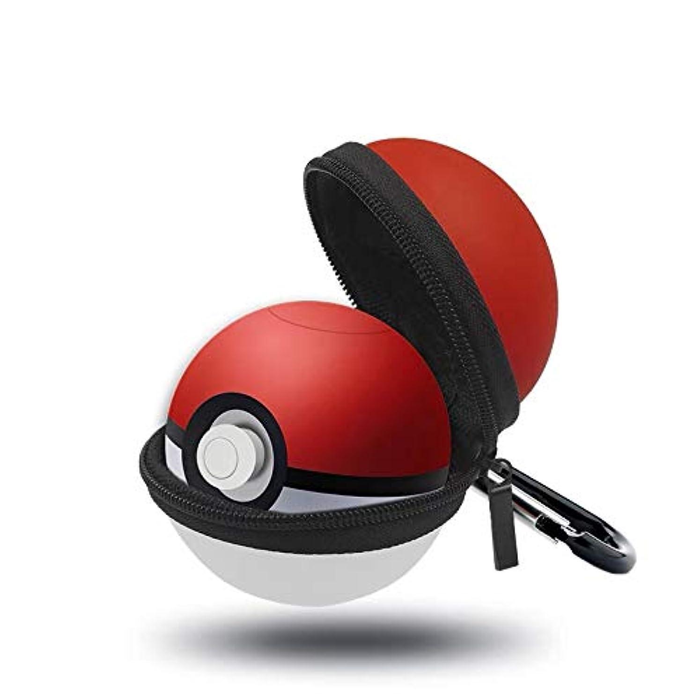 汚物抹消先Oumino モンスターボール Plus ケース カバー ニンテンドー スイッチ Nintendo Switch Poké Ball Plus 適用 EVAポーチ 耐衝撃 ハードポーチ 収納ケース 防塵防水 カラビナ付き ボール型 (レッド&ホワイト)