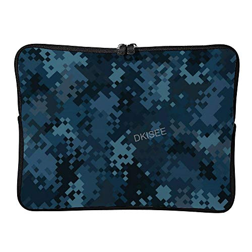 DKISEE Camouflage Military Pattern (37) Laptop Sleeve for Women Men, Compatible with 13 Inch MacBook Air/MacBook Pro Notebook Two-way Zippers Laptop Carrying Bag Case Cover