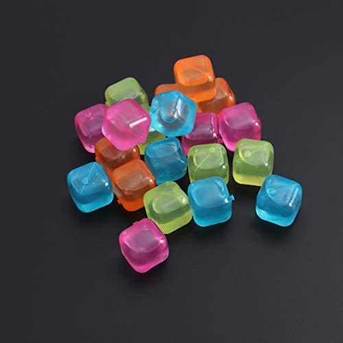 Lurrose 20 Cubitos de Hielo Reutilizables Cubito de Hielo Reutilizable para Bebidas Enfriador de Vino Cuadrado Colorido para Bebidas Accesorios de Bar (Viene en Colores Surtidos)