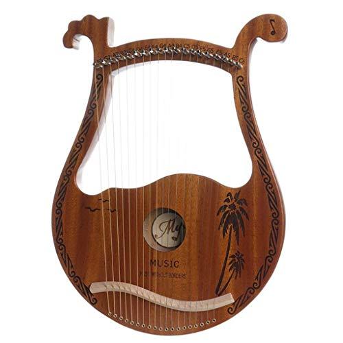 lili 19 Saiten Lyre Harp, Mahagoni Holz Lye Harfe Mit Stimmhammer Instrument Für Anfänger, Holz Saiten Musikinstrument Für Freunde Und Kinder