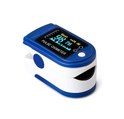 Oxímetro dedo, Pulsioximetro de dedo profesionalportátil con pantalla LCD para mediciones de...