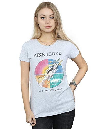 Pink Floyd Mujer Wish You were Here Camiseta Deporte Gris Large