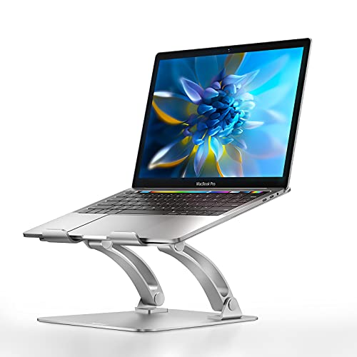 Nulaxy Laptop Stand, Ergonomic Height Angle Adjustable Computer Laptop Holder Compatible with...