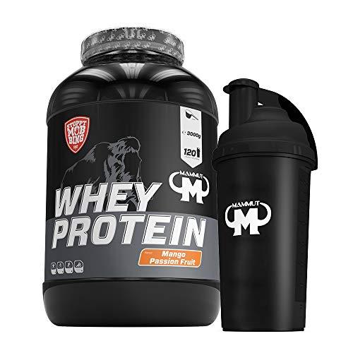 3kg Mammut Whey Protein Eiweißshake - Set inkl. Protein Shaker oder Powderbank (Mango Passion Fruit, Gratis Mammut Shaker)