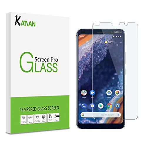 KATIAN [2 Pack Pellicola Protettiva per Nokia 9 Pureview, 2.5D Protezione Schermo in Vetro Temperato [Bordi Arrotondati] [Ultra-Clear] Protezione Film con Nokia 9 Pureview