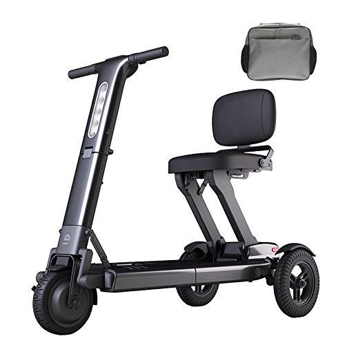 Scooter de movilidad eléctrico plegable, Scooters de movilidad eléctricos de servicio pesado de 3 ruedas, Silla de ruedas eléctrica de fácil viaje, Batería de litio aprobada por la aerolínea