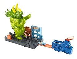7. Hot Wheels Smashin' Triceratops Play Set