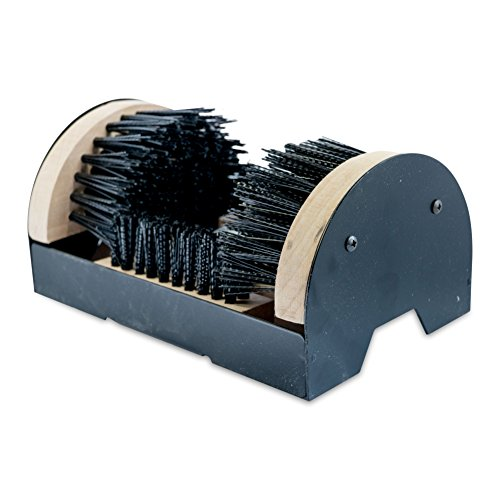 Cadillac Boot Scrubber Cleaner Shoe Brush - Mountable Boot Scrubber Buffer for Boots, Shoes, Sneakers - Indoor/Outdoor Boot Scraper