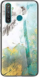 Oppo Realme 5 Pro用大理石強化ガラスアンチフォールオールインクルーシブTPU保護Oppo Realme 5 Pro用保護カバー (Color : 3)