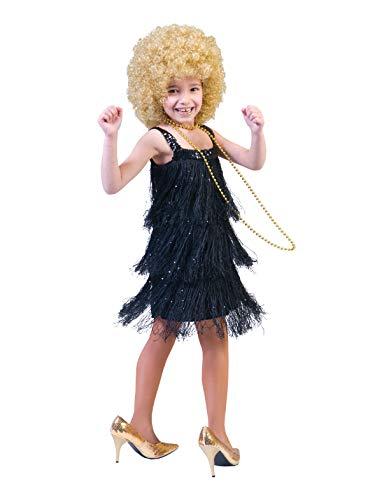 Déguisement robe charleston noire enfant--4 à 6 ans
