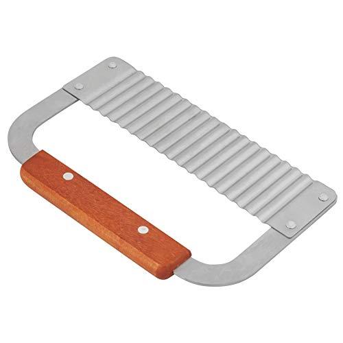 Edelstahl Seifenschneider Crinkle Wachsschneider Wellenförmige Schneidemaschine Schneidwerkzeug mit Hartholz Griff für Seifenlaib