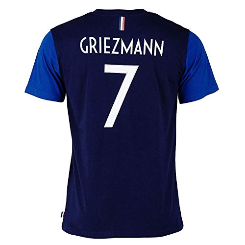 Camiseta del Equipo de Francia FFF para niño GrIEZMAN Nº 7 con Licencia Oficial Azul, Azul, 14 años
