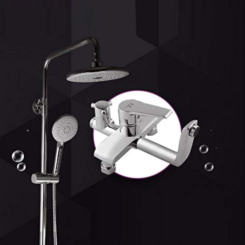LWUDI Duscharmatur Regendusche Duschsystem, Handbrause Hochdruck, alle Bronze Brausegarnitur, Multifunktion Wandbrause Warm und Kalt Wassermischung Dusche Set, Handbrause mit Filter