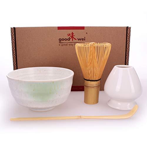 Goodwei Juego de té Matcha - Bol de té, batidor y soporte incl. Caja de...