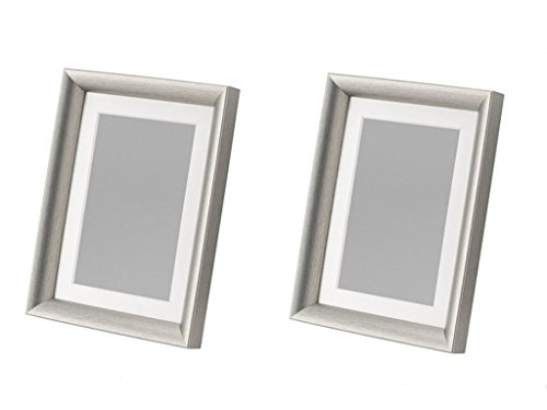IKEA NEW SILVERHÖJDEN Frame, show pictures of 4 6 Inch pad or no pad with 5 7 Inch (silver2-Pack)
