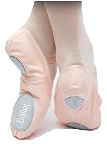 Mezza Punta da Danza Classica Scarpina da Ballo Tela Etoile Ballet Mezze Punte BA01 (42, Rosa)