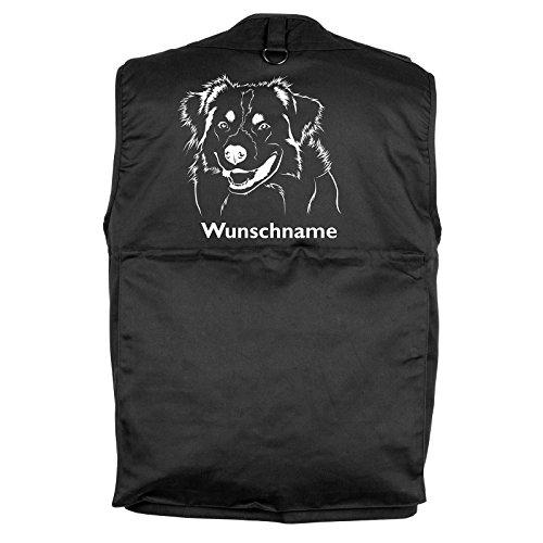 Tierisch-tolle Geschenke Australian Shepherd 2 - Hundesportweste mit Rückentasche (XS)