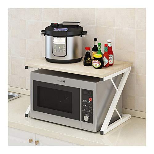 CDSRB Mehrzweck-Küchenständer, einfacher Mehrzweck, langlebig, freistehend, für Mikrowelle, Backofen und Zuhause, Aufbewahrungsschrank Ahorn-Sakura-Farbe