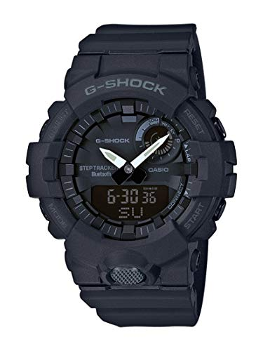Casio G-SHOCK Orologio, Steptracker/Pedometro, Sensore di movimento, 20 BAR, Nero, Analogico - Digitale, Uomo, GBA-800-1AER